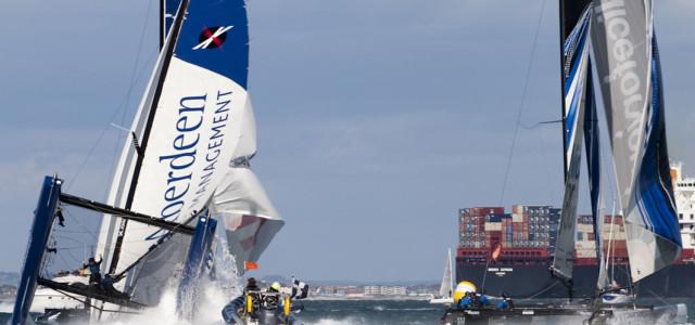 Extreme Sailing Series, Luna Rossa comanda mentre c'è chi si ribalta