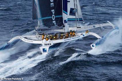 Trofeo Jules Verne, per Banque Populaire ecco il record numero tre