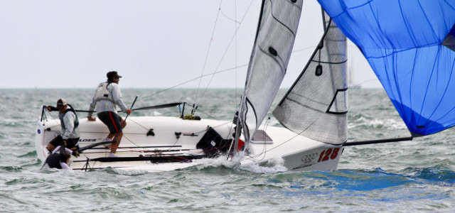 Audi Melges 20 Gold Cup, man over board
