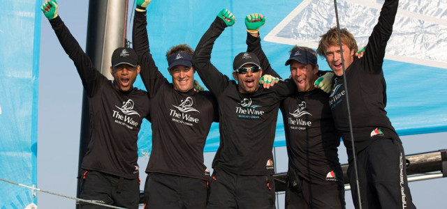 Extreme Sailing Series, The Wave Muscat al fotofinish
