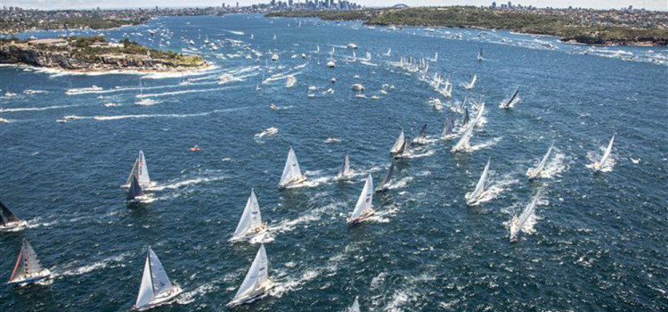 Rolex Sydney-Hobart, and they're off