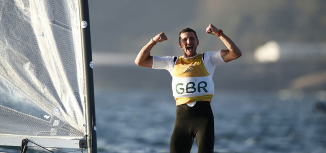 Rio 2016, Giles Scott wins the Finn gold medal with a race to sail