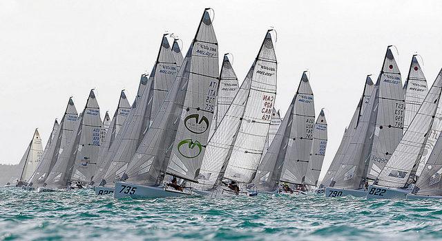 Melges 24 European Sailing Series, the fleet is on the Garda Lake