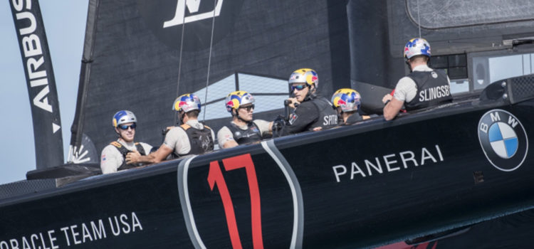 America's Cup, Oracle Team USA sails 17 for the first time