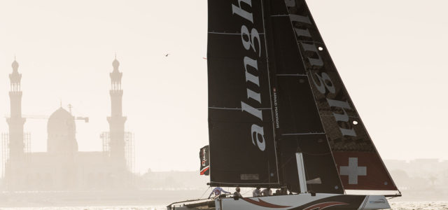 Extreme Sailing Series, Alinghi on the top after day one