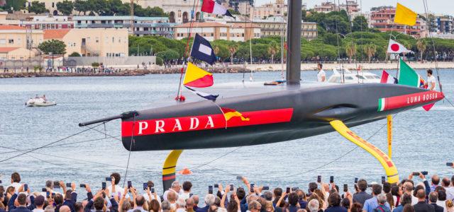 America's Cup, svelata a Cagliari Luna Rossa AC75