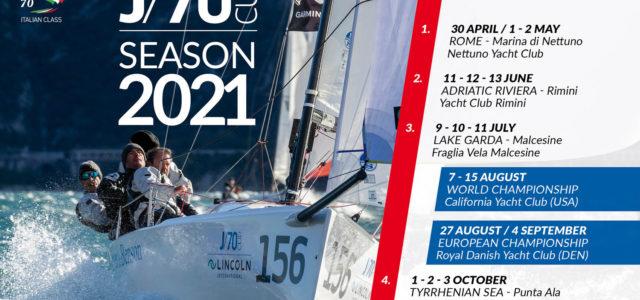 """J/70 Cup 2021, """"Grand Tour"""" Italiano per la stagione organizzata da J/70 Italian Class"""