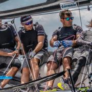 Melges 20, Kindako, portacolori del Lightbay Sailing Team, a Cala Galera per l'Argentario Rally
