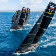 RC44 Worlds 2021, too much wind for the opening