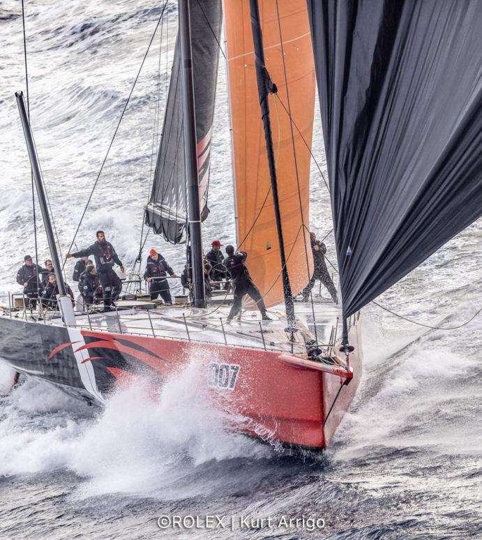 Rolex Middle Sea Race, Comanche sets the new monohull record